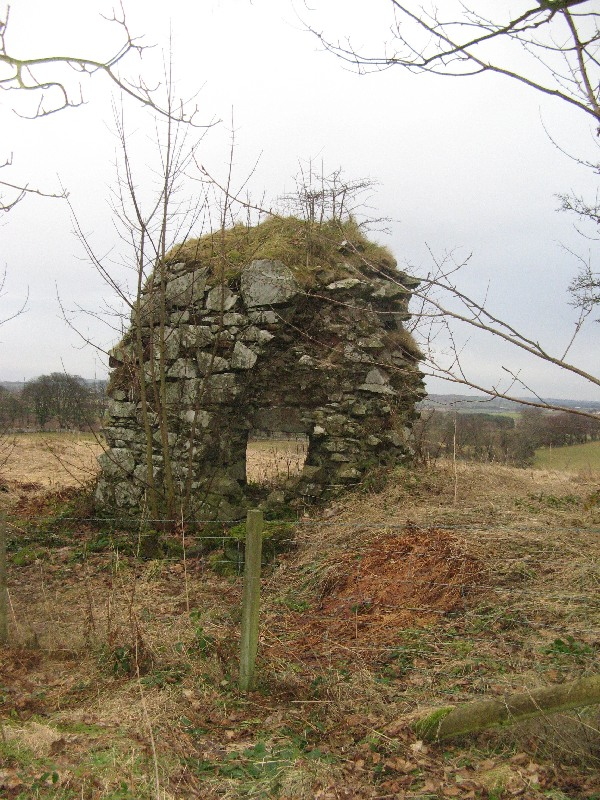 Remains of Bunkle Castle